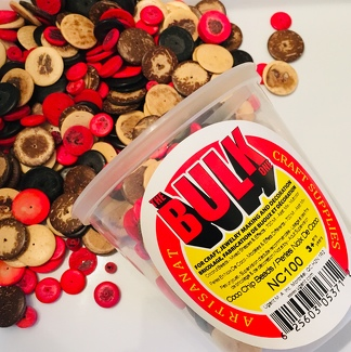 Glass Beads 470 ml Multicolors 1 Jar